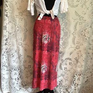 Vintage BCBG, Faux Suede Maxi Skirt